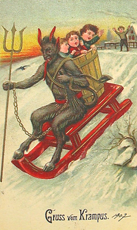 The forces of holiday darkness are gathering…. Krampus to emerge
