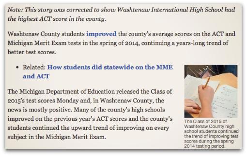 Ypsilanti's Washtenaw International High School ranks 2nd in
