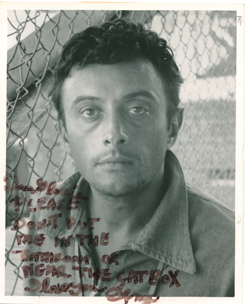 Lenny Bruce Note to 16 Magazine's Gloria Stavers, Danny Fields Archive