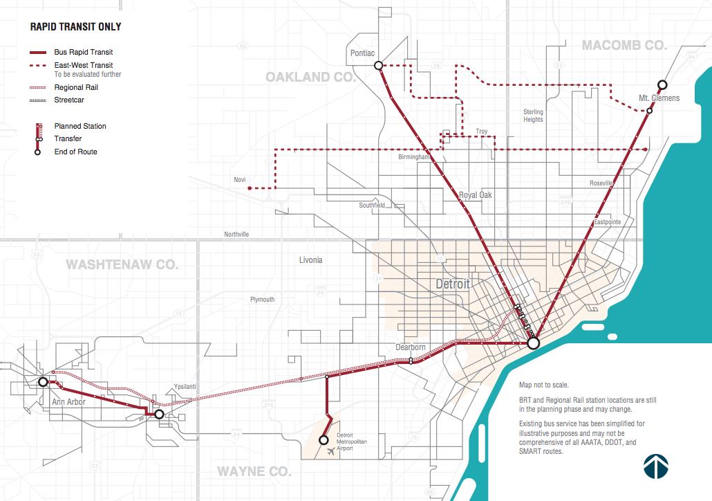 Discussing the prospect of Ann Arbor Detroit rail rummaging
