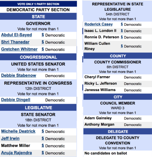 So, my fellow ypsilantians, how are you planning to vote in this.